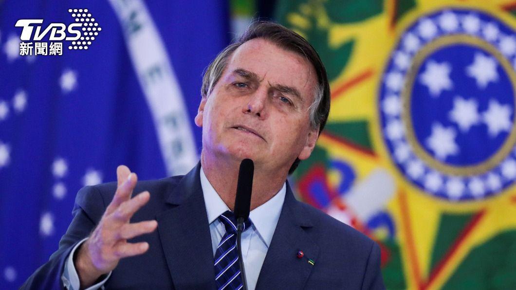 巴西總統波索納洛支持使用羥氯奎寧。(圖/達志影像路透社) 巴西總統堅持用羥氯奎寧 稱反對者「無恥之徒」