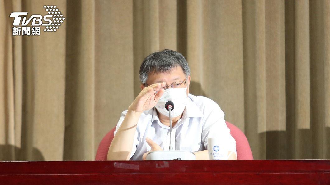 台北市長柯文哲。(圖/中央社) 台北市防疫是否升級? 柯文哲:下午宣布