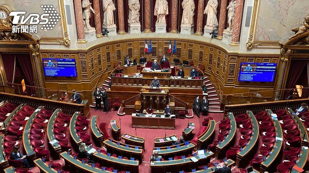 法國參議院無異議通過挺台參與國際組織議案。(圖/中央社) 法通過挺台議案 府:肯定抗疫及經濟發展經驗