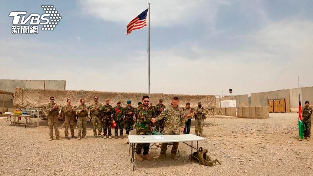 美軍訂定9/11前撤軍阿富汗。(圖/達志影像美聯社) 美增派轟炸機及戰鬥機 保護美國和聯軍撤離阿富汗