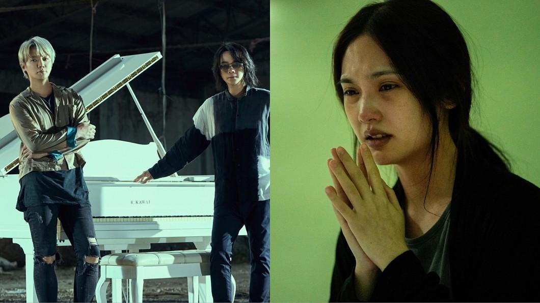 楊丞琳(圖右)在電影《靈語》中演技令人期待,而《靈語》主題曲將由F.I.R.演唱。(圖/華研國際音樂、甲上娛樂提供) 錄音頻傳「不明高音女聲」 F.I.R.毛骨悚然嚇慘