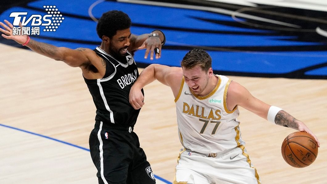 NBA獨行俠唐西奇攻下24分。(圖/達志影像美聯社) NBA唐西奇率獨行俠4分險勝 籃網苦吞4連敗