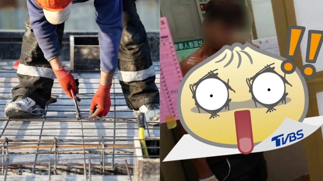工人自拍照掀起暴動。(圖/shutterstock 達志影像、翻攝自爆怨2公社) 完工照意外秀「養眼身材」 逾萬網友暴動:留下名片