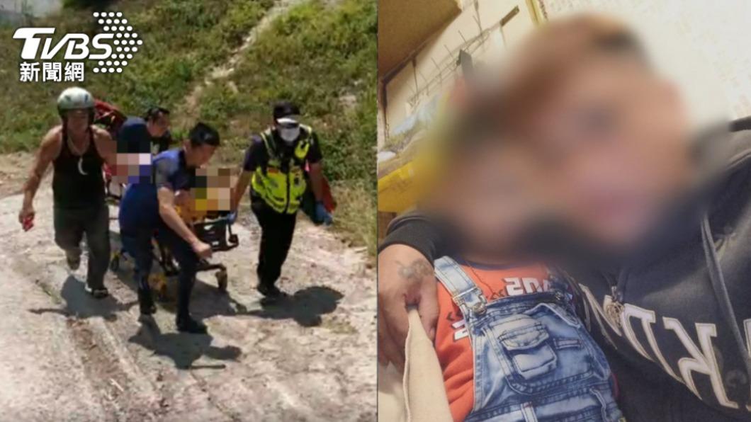 男童父親指控溺斃同事拉兒子的腳害殞命。(圖/TVBS) 亡夫遭批「拉腳」害7歲童溺斃 妻首現身:不接受指控