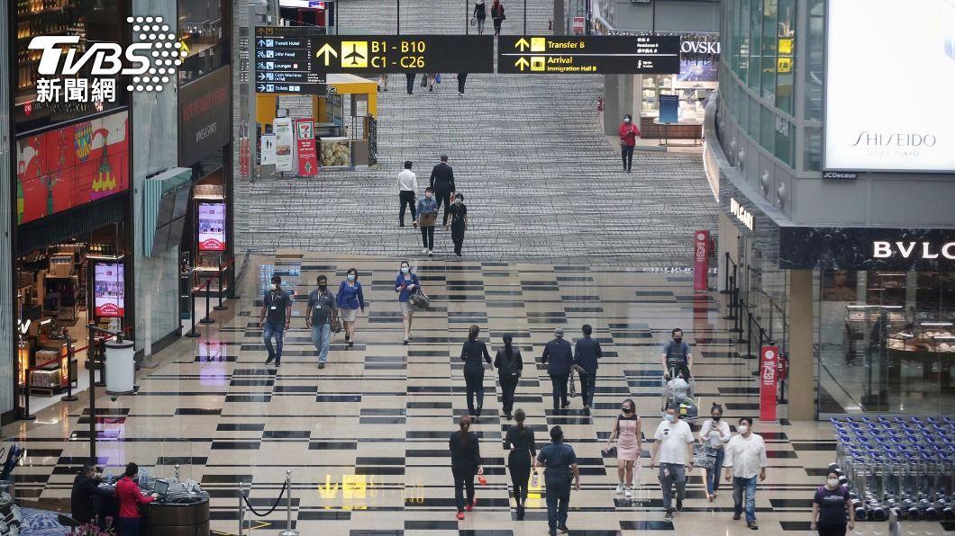 新加坡樟宜機場出現感染群。(圖/達志影像美聯社) 新加坡社區案例激增 樟宜機場出現感染群