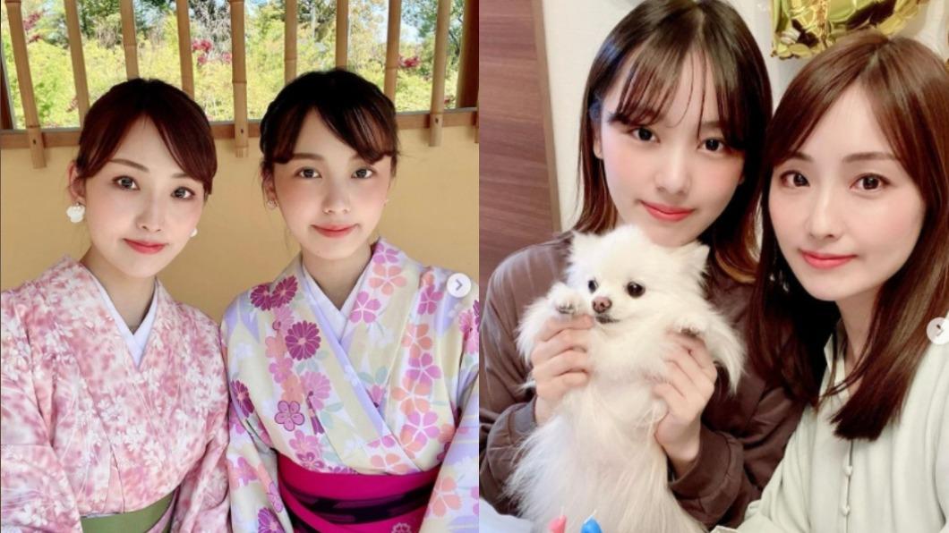 日本凍齡媽媽(左圖左方、右圖右方)與身邊女兒宛如姊妹。(圖/翻攝自Ayumi Kawabata IG) 40歲美媽超逆齡 合影19歲女兒「像姊妹」紅遍全日