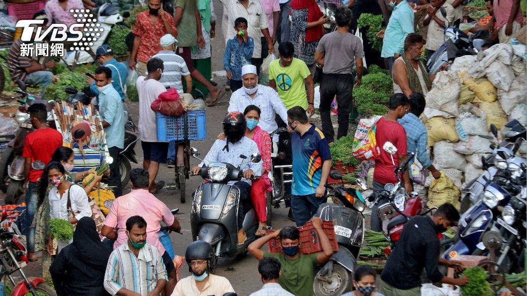 印度疫情嚴重。(圖/達志影像路透社) 印度變異病毒B.1.617 世衛:蔓延至全球44國