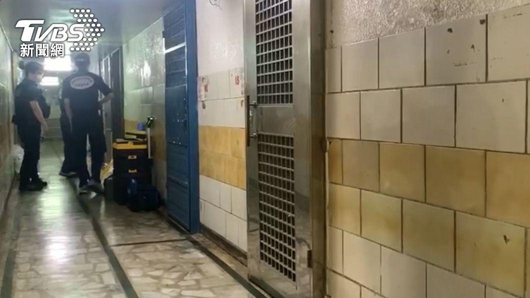 中山區住商大樓發生凶殺案。(圖/TVBS) 北市中山區凶殺案!逃逸越籍女子陳屍浴室 頸20公分刀傷