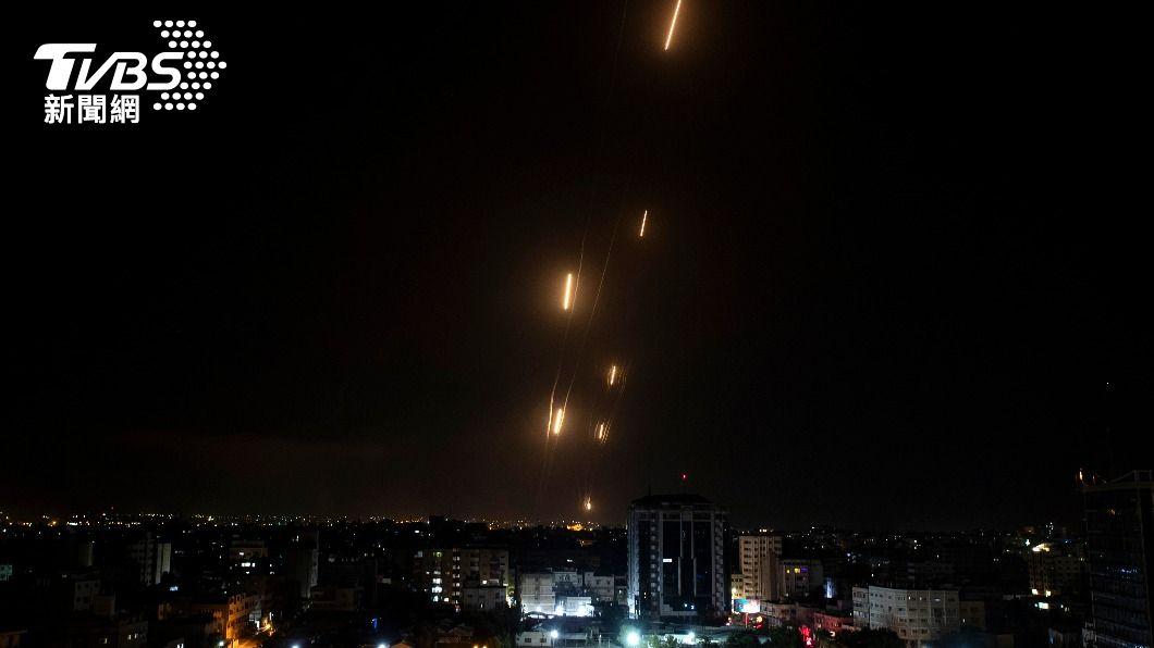 (圖/達志影像美聯社) 耶路撒冷衝突 以色列:10日迄今哈瑪斯發射逾千枚火箭