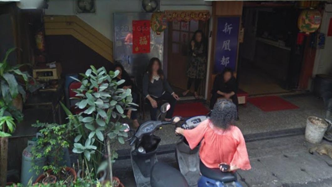 網友挖出鴻達茶藝館街景圖。(圖/翻攝自-Googlemap) 鴻達茶藝館爆確診!門口照流出 「女坐一排」老司機怕爆