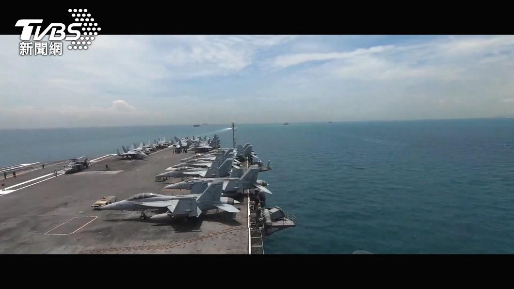 共軍航艦南海常態演訓,學者認為,中共海權戰略已達關鍵十字路口。(圖/TVBS) 日本前將領:中國對台「混合戰」早已展開 有8套劇本