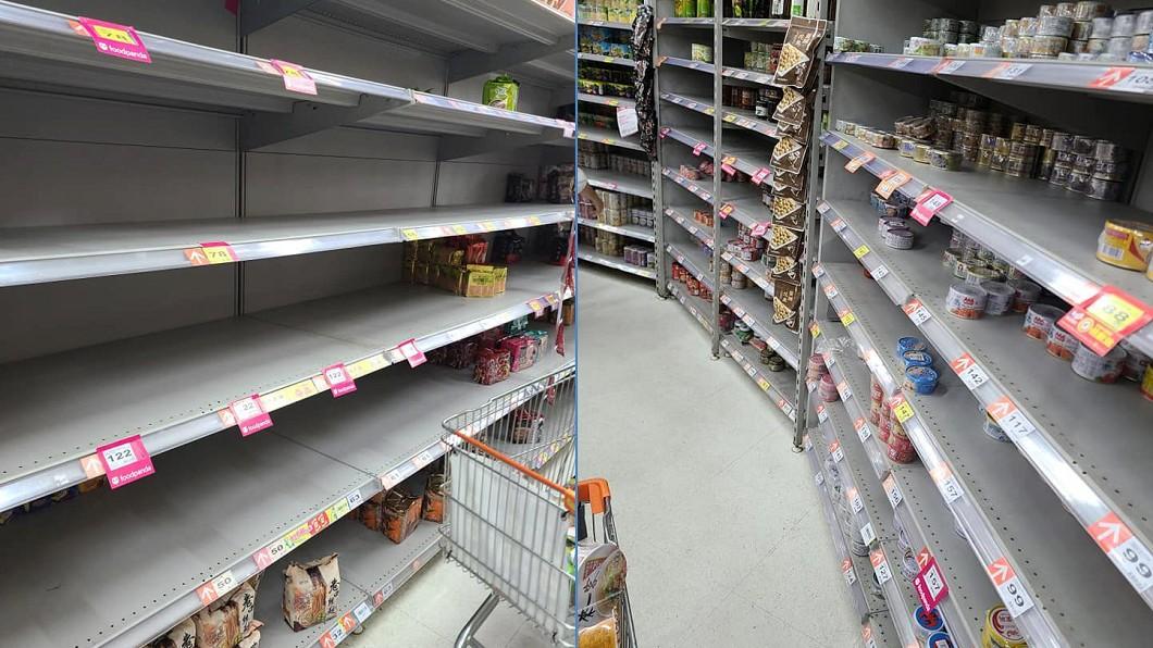 民眾瘋狂搶購民生物資。(圖/翻攝自爆怨2公社)