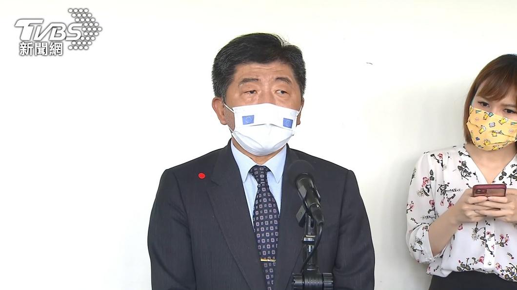 中央流行疫情指揮中心指揮官陳時中。(圖/TVBS) 今新增13例本土 其中9例與案1203相關