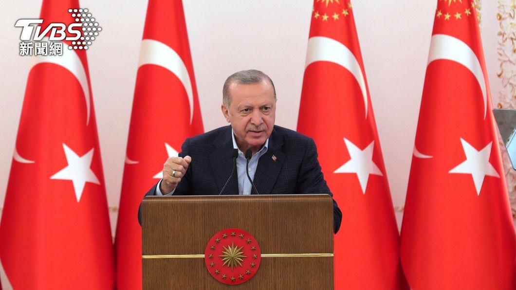 土耳其總統艾爾段。(圖/達志影像美聯社) 以巴衝突升溫 艾爾段:應給以國一記强有力當頭棒喝