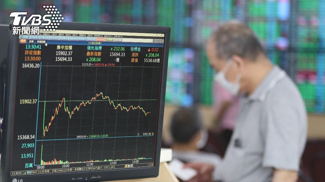 台股本週大跌。(圖/中央社) 台股本週大跌1457.91點 市值蒸發逾4.4兆