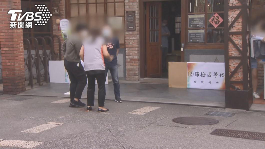 萬華篩檢站。(圖/TVBS) 暴增180例本土!「北市89、新北75」佔最高
