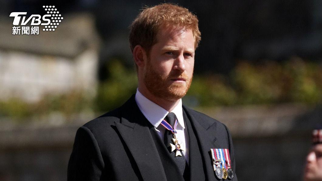 哈利日前回英國參加祖父菲利普親王葬禮,遭外界指「被排擠」。(圖/達志影像路透社) 哈利王子再吐王室秘辛 「我想為孩子打破痛苦的循環」