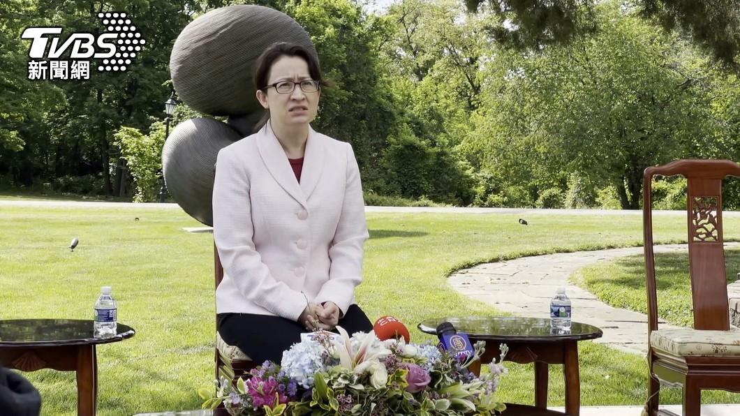 台灣駐美代表處處長蕭美琴。(圖/TVBS) 台美討論疫情合作 蕭美琴盼美支持取得疫苗