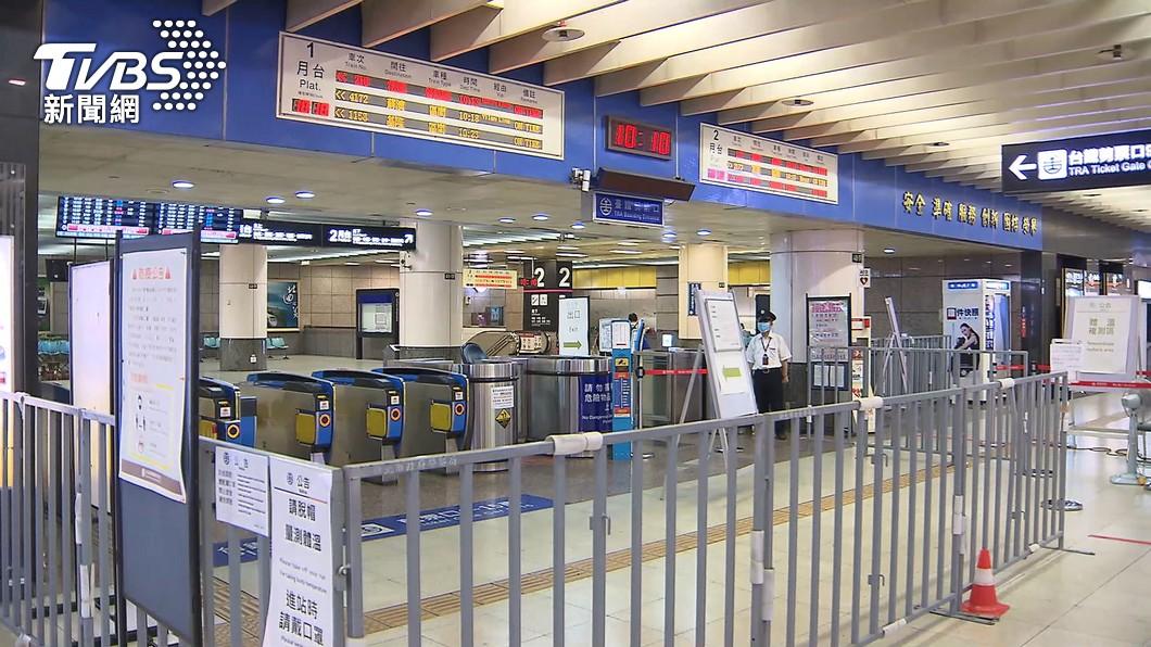 驚傳台鐵台北車站外包清潔人員確診。(圖/TVBS) 台鐵北車外包清潔員驚傳染疫 公司:他人不太舒服
