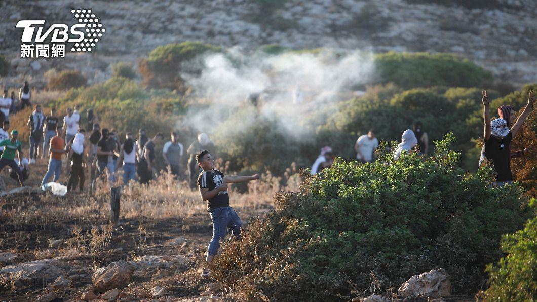 巴勒斯坦與以色列爆發衝突。(圖/達志影像路透社) 拜登與以色列總理通話 嚴重關切暴力衝突加劇