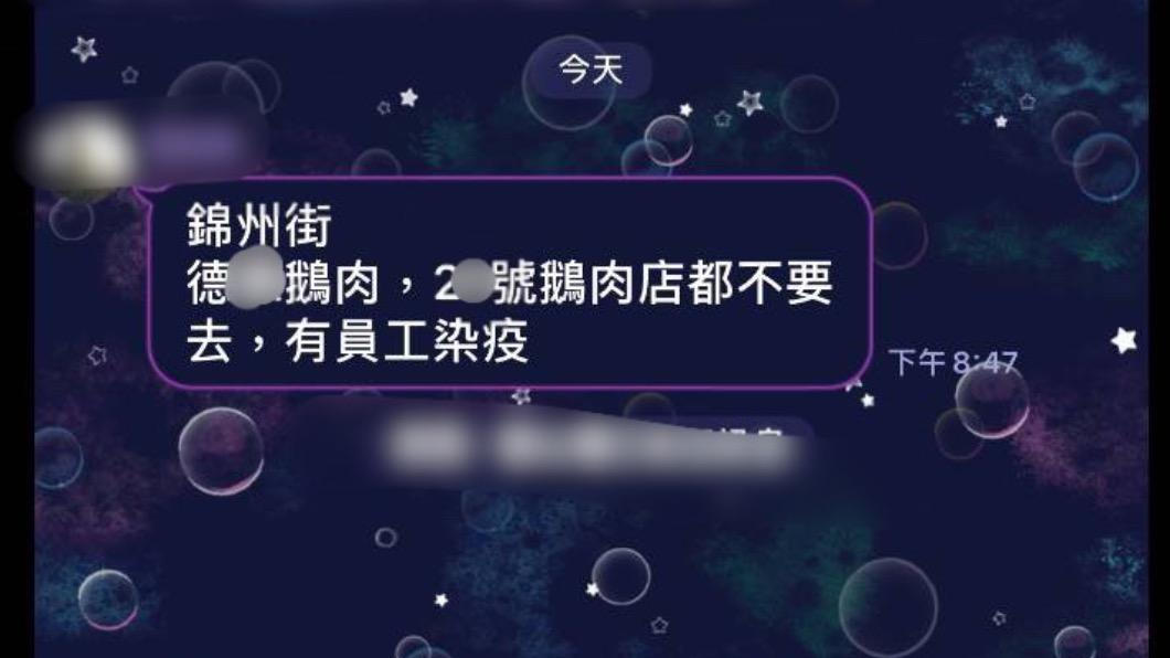 鵝肉店染疫假消息。(圖/TVBS) 害店家生意掉9成!亂傳錦州街鵝肉店員工確診 警逮3人