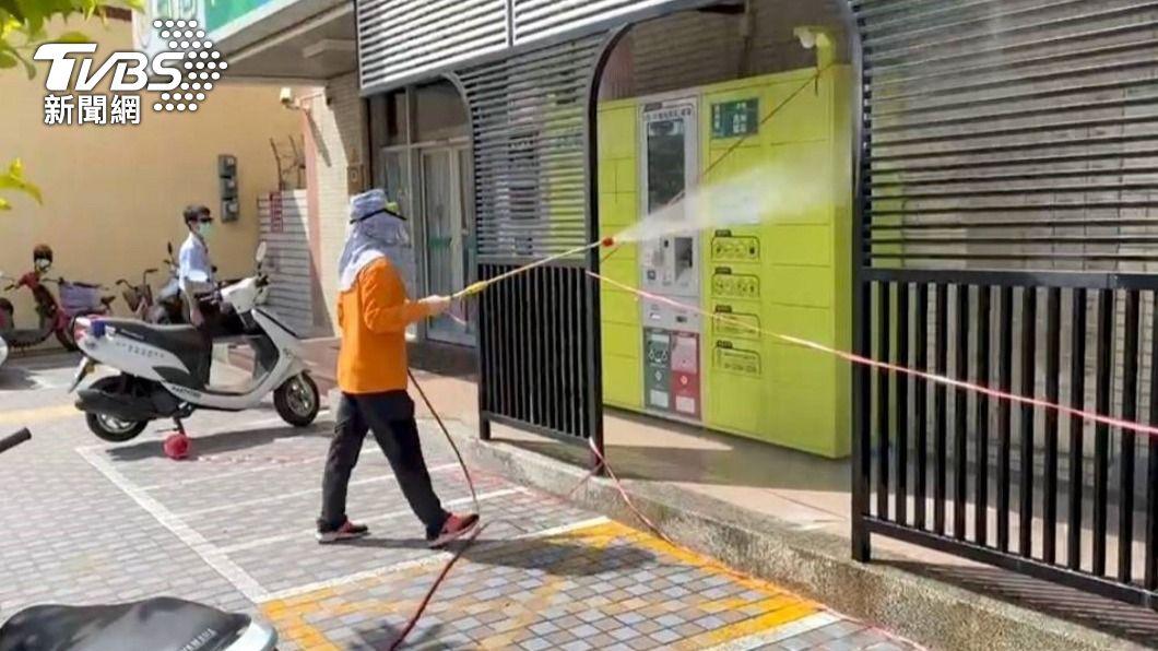 (圖/TVBS) 1確診者曾至屏東探親友 屏府完成軌跡消毒