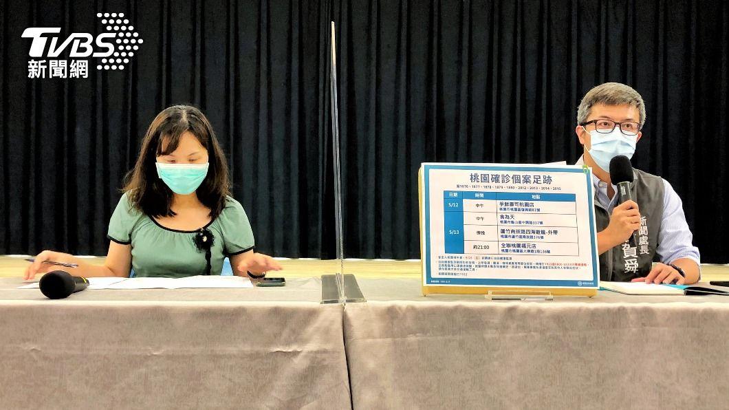 (圖/中央社) 桃園公布10確診案例足跡點 急匡列330人