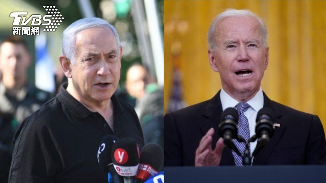 以色列總理尼坦雅胡、美國總統拜登。(圖/達志影像美聯社) 與以總理尼坦雅胡通話 拜登:支持以巴停火