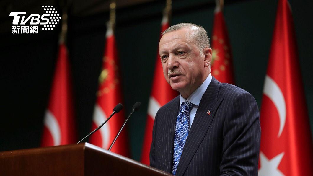 土耳其總統艾爾段。(圖/達志影像美聯社) 加薩衝突支持以色列 艾爾段批拜登雙手沾滿鮮血