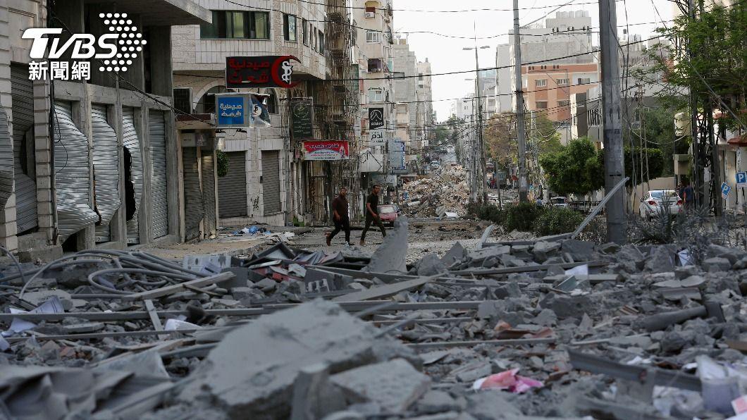 以巴戰火不斷。(圖/達志影像美聯社) 醫院受損權威醫師亡 以巴戰火邁入第2週逾200死