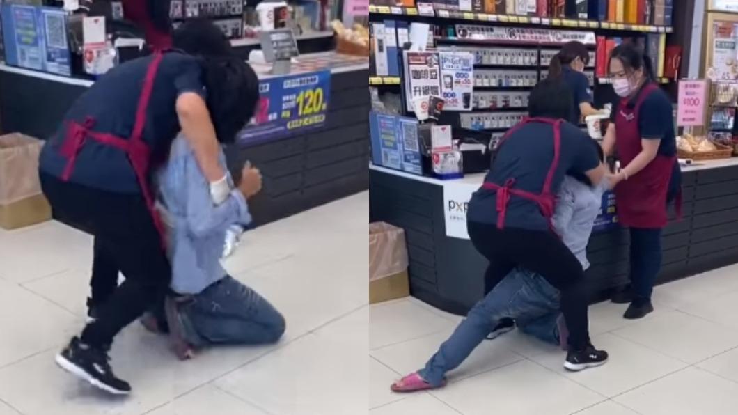 宜蘭全聯有顧客不將口罩戴好,最後與店員發生肢體衝突。(圖/翻攝自「宜蘭知識+」) 請支援輸贏!女顧客暴扯口罩 全聯2店員徒手壓制報警