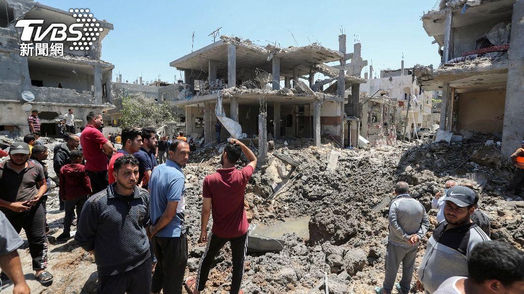 加薩地區多處民宅在空襲中遭炸毀。(圖/達志影像路透社) 戰事無解!無視拜登關切 以色列總理「鐵了心」打加薩