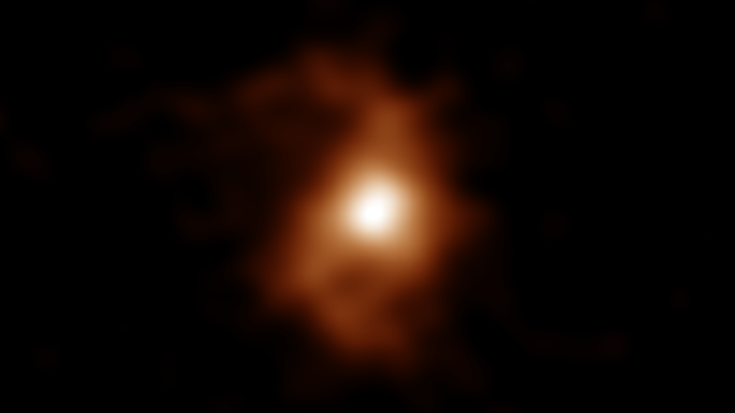 124億年前的「BRI 1335-0417」螺旋星系。(圖/日本國立天文台NAOJ官網) 日本發現124億年前最古老星系 銀河歷史恐被推翻