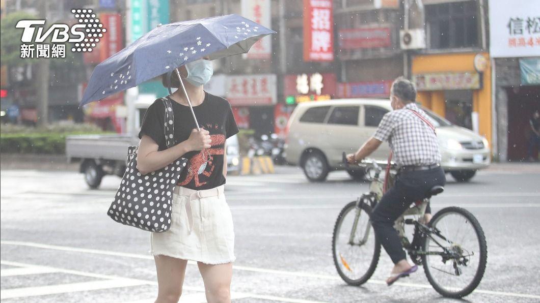 (圖/中央社) 雨彈來了!鋒面+午後對流旺盛 北北基14縣市大雨特報