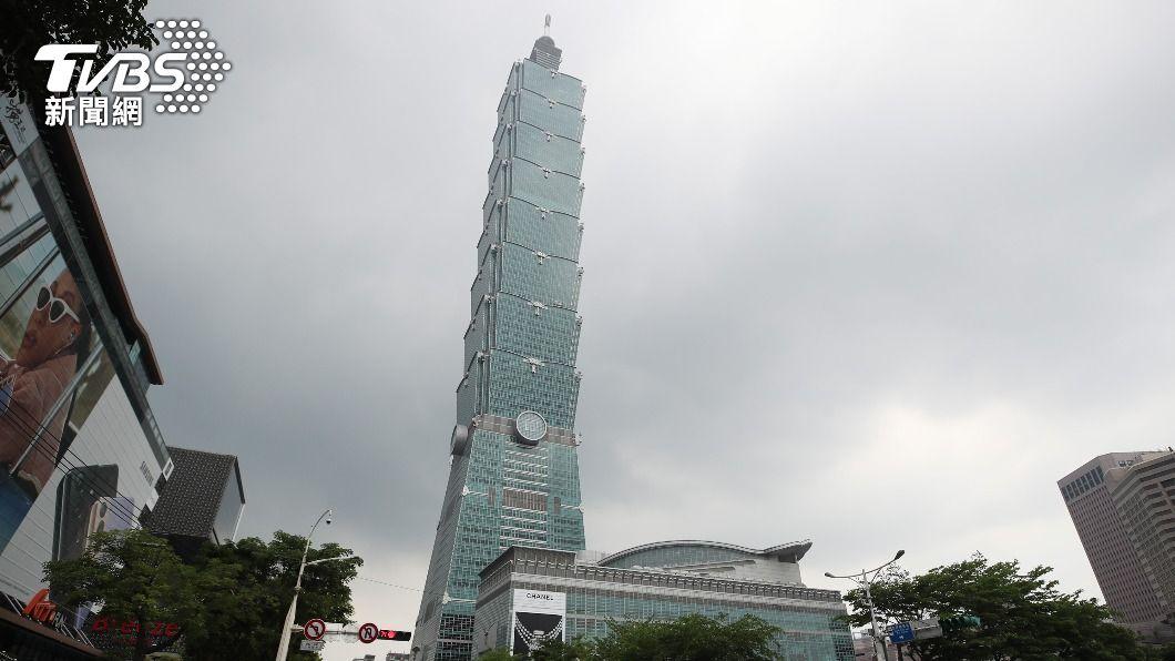台北101內有外商員工確診。(圖/中央社) 法巴人壽1員工確診 台北101緊急消毒加強換氣