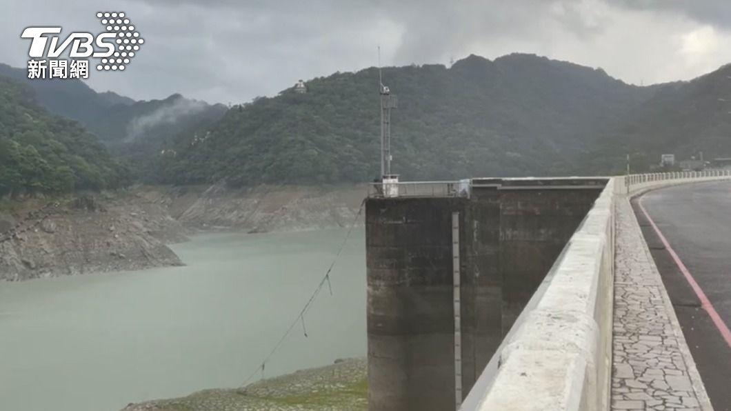 石門水庫上游集水區降雨。(圖/中央社) 鋒面及對流雲系旺盛 石門水庫雨量5月最多一次