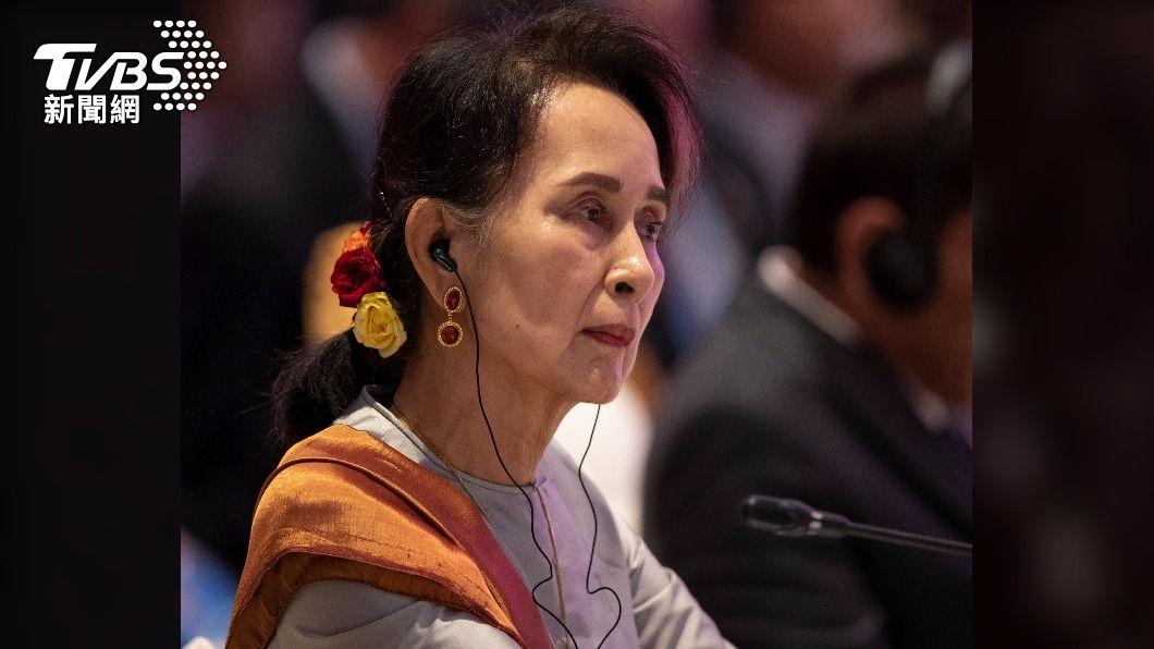 翁山蘇姬。(圖/達志影像美聯社) 官媒播翁山蘇姬出庭畫面 緬甸軍方政變後首見