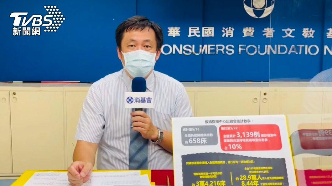 消基會呼籲金管會應出面協商。(圖/TVBS) 輕症隔離沒住「醫院」不理賠? 防疫保單未來恐看有吃嘸