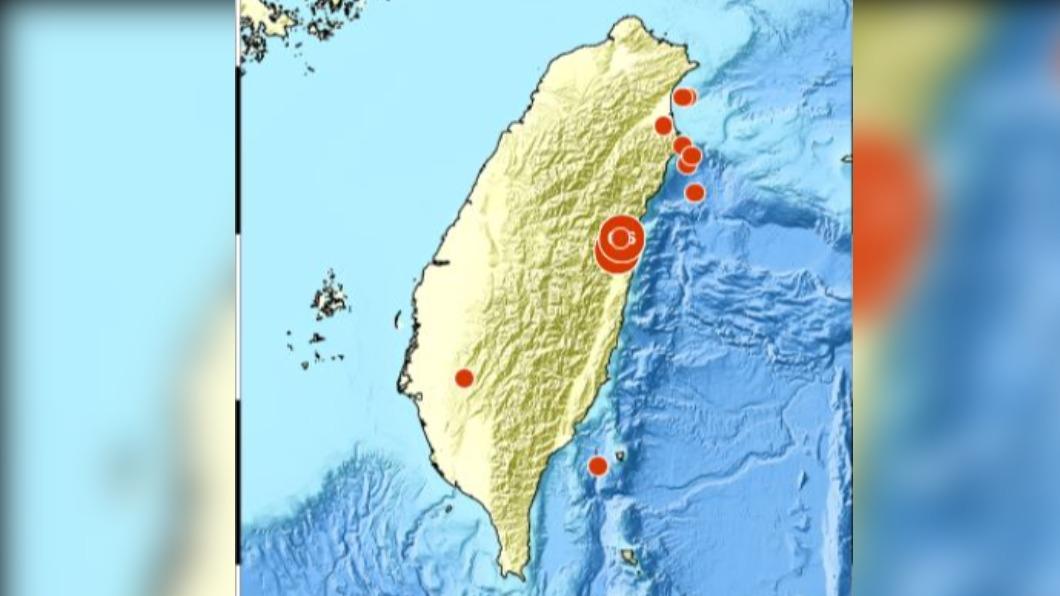 圖/中央氣象局 凌晨0時48分 花蓮縣芮氏規模4.9地震 最大震度4級