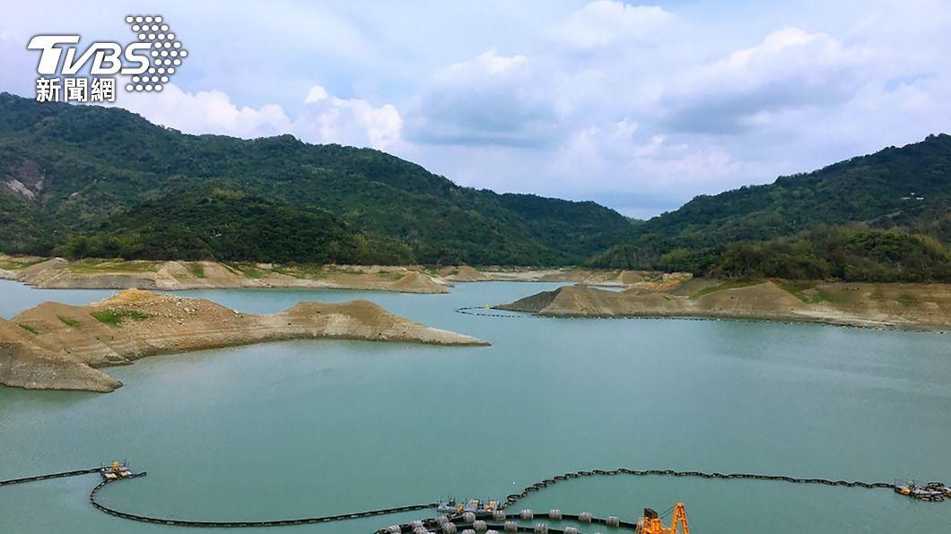 南化水庫集水區降雨。(圖/中央社) 甘霖挹注!南化水庫集水區降雨 估增3、4天用水量