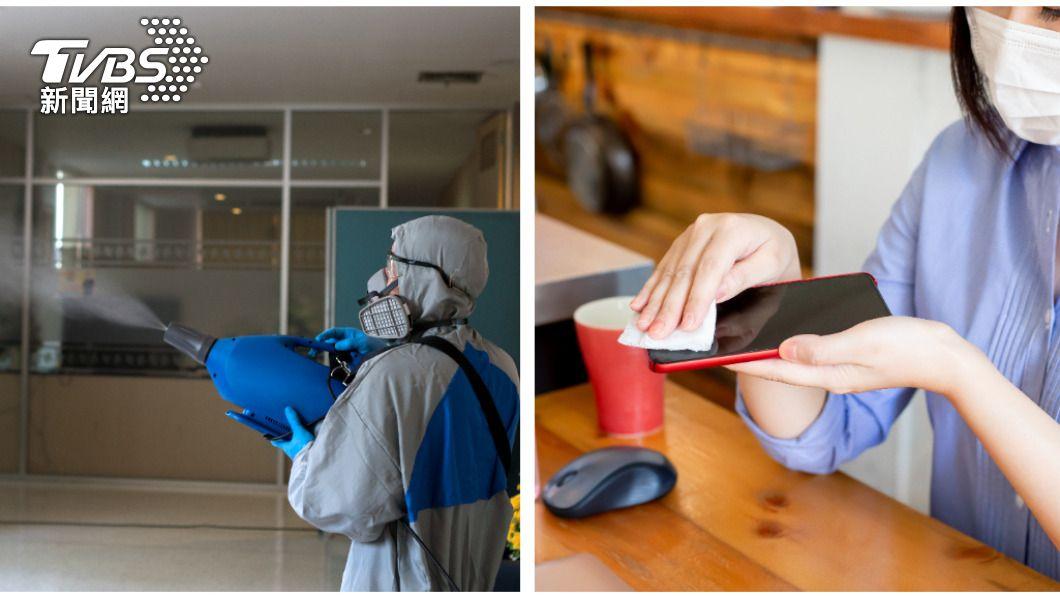 居住環境及最常使用的手機需定期消毒。(示意圖/shutterstock達志影像) 5個小細節別忽略!手機、衣服藏細菌恐成防疫破口