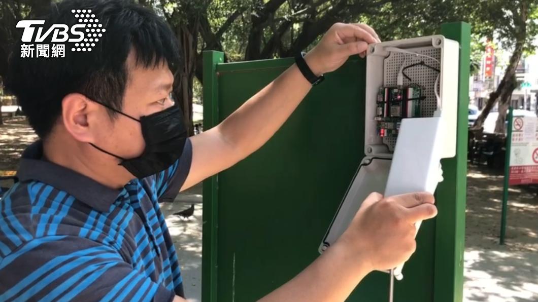台南群聚監測警報系統目前已經在10個地點布建完成。(圖/TVBS) 全國第一!台南開發「群聚警報系統」提升警方稽查效率