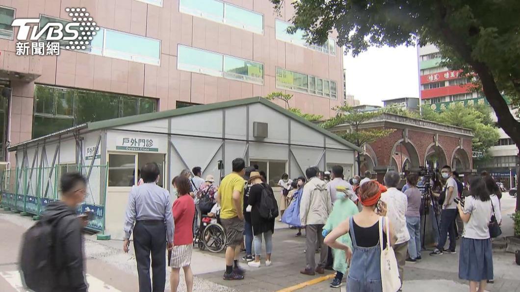 台北馬偕醫院。(圖/TVBS) 傳台北馬偕醫院爆院內感染 石崇良:因擴充病房才封樓