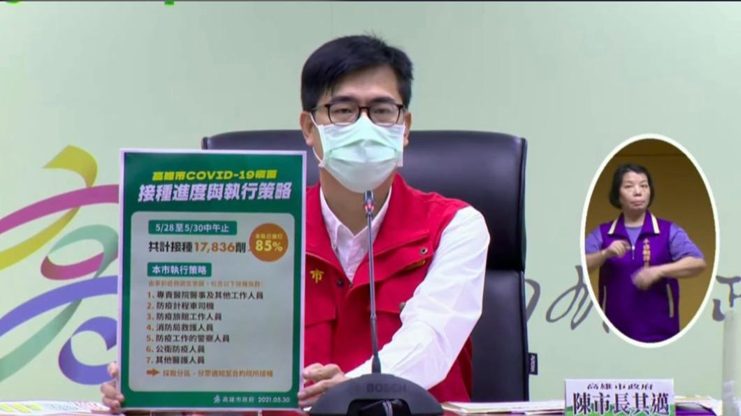 高雄市長陳其邁。(圖/高雄市政府提供) 高雄本土+1首沒曝足跡 衛生局:高風險接觸者、地區都在台南