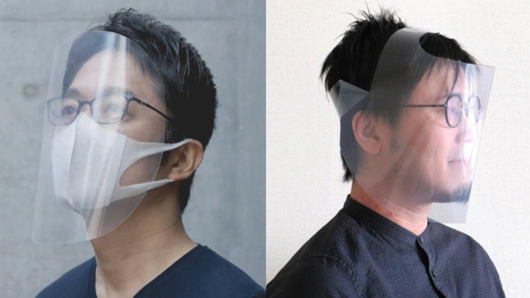 防疫面罩。(圖/翻攝自TOKUJIN YOSHIOKA 吉岡徳仁Youtube頻道影片、pandaid官方網站) 防疫面罩暢銷缺貨 日本設計免費自製版30秒完工