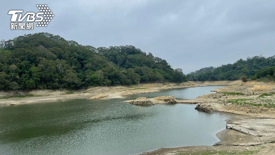 寶山水庫蓄水量增加。(圖/中央社) 寶山、德基水庫進帳破百水位回升 緩解限水壓力