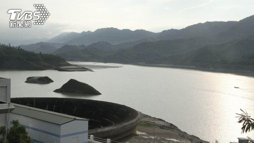 南化水庫蓄水量回升。(圖/中央社) 南化水庫進帳600萬立方公尺 估增20天出水量
