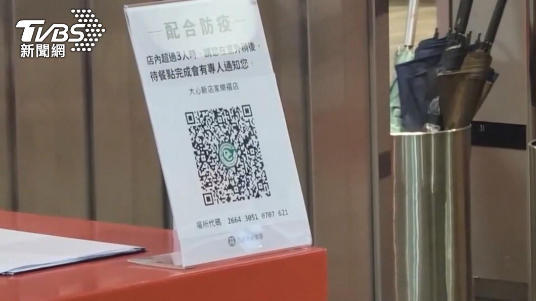 多數賣場都已經採取實聯制。(圖/TVBS) 侯友宜要求新北5大賣場管制 2.25平方公尺1人為限