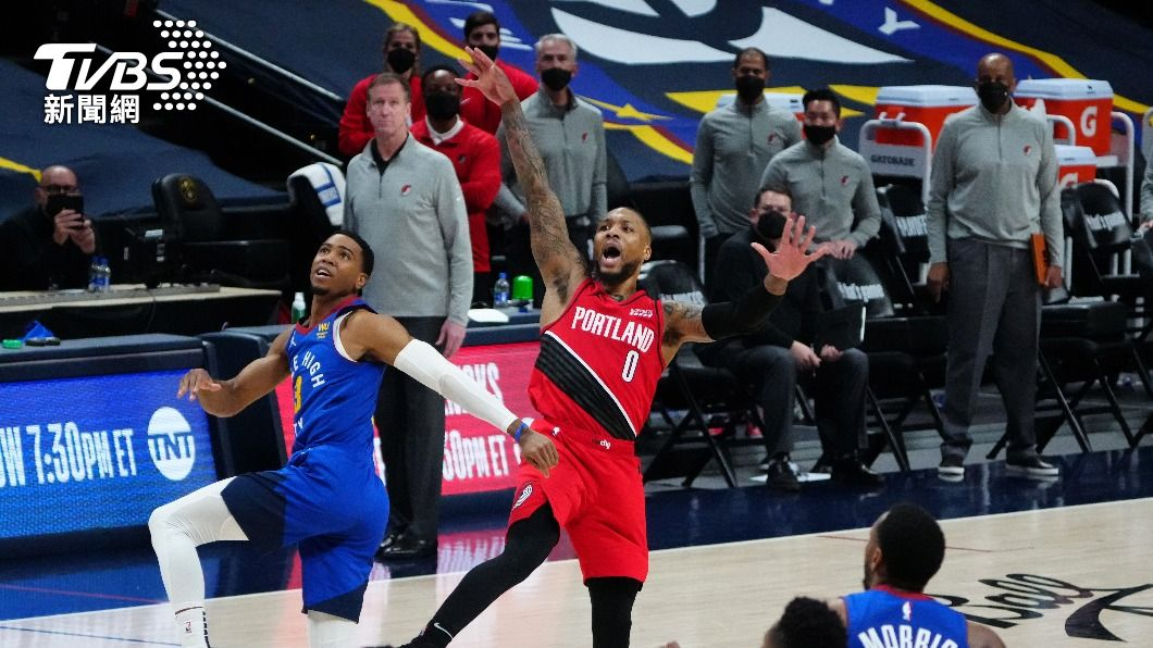 (圖/達志影像路透社) NBA里拉德寫紀錄 55分10助攻季後賽第一人