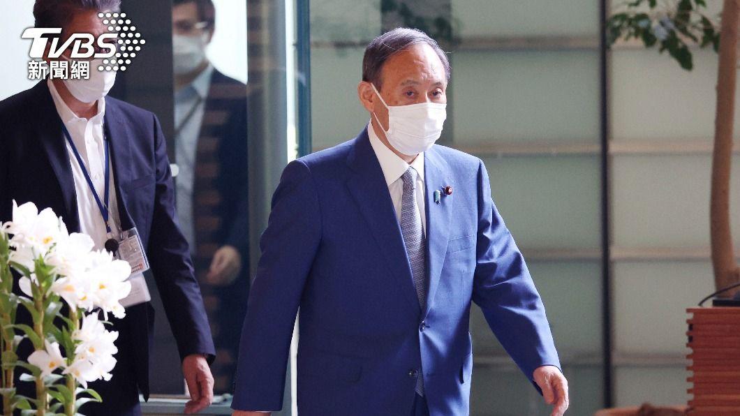 日本首相菅義偉。(圖/達志影像美聯社) 菅義偉6/10訪英出席G7峰會 會後聲明擬支持東奧